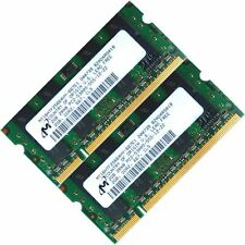 micron 4GB (2x2GB) DDR2-667 PC2-5300 Laptop (SODIMM) Memory (RAM) 200-pin