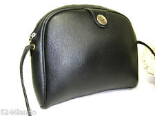 Vintage CHRISTIAN DIOR Black Coated Canvas Shoulder Bag
