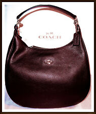 NWT RARE $425 Coach Large Pebbled Leather Harley Hobo Shoulder Bag Oxblood 1 Red