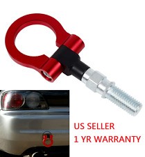 "1.88"" TOW HOOK KIT BILLET ALUMINUM RED FRONT/REAR JDM JAPANESE CAR/AUTO TRAILER"