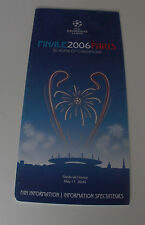 for collectors CL final 2006 in Paris Fan Information FC Barcelona - Arsenal FC