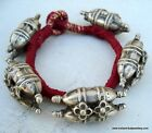 VINTAGE ANTIQUE TRIBAL OLD SILVER BRACELET GYPSY HIPPIE