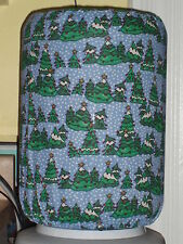 CHRISTMAS TREES SNOWING 5 GALLON WATER COOLER BOTTLE COVER KITCHEN DECORATION
