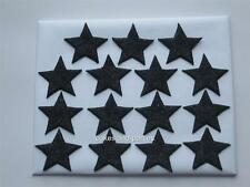 15 X EDIBLE BLACK GLITTER STARS. CAKE DECORATIONS - MEDIUM 3cm