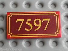 LEGO TOY STORY tile with 7597 Pattern ref 87079/ set 7597 Western Train Chase