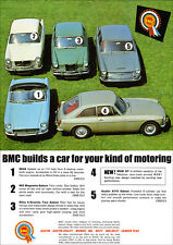 MGB GT AUSTIN A110 MAGNETTE RILEY 4/72 RETRO A3 POSTER PRINT FROM ADVERT 1965