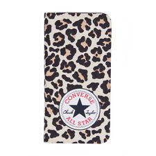 Converse Canvas Booklet Wallet or Iphone 5S (Leopard)