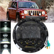"7"" MOTORCYCLE BLACK PROJECTOR DAYMAKER HID LED LIGHT BULB HEADLIGHT For JEEP JK"