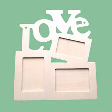 Hollow Love Wooden Photo Frame DIY Picture Frame Art Decor White Base Gifts Lot