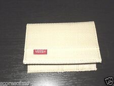 Vans Shoes Authentic Off The Wall Straw bi-fold wallet Ivory NWT Free Ship