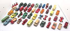 Lot de 45 matchbox/lesney mixte diecast mixte de voitures et véhicules inc. militaire