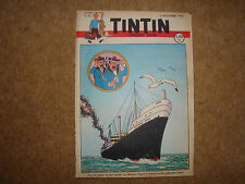 1948 Tintin Journal with Herge cover illustration from Land of Black Gold.
