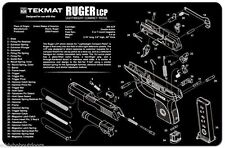 Ruger LCP 380  Armorers Gun Cleaning Bench Mat Exploded View Schematic NEW !