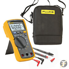 Fluke 117 True Rms Digital Multimeter y prueba de plomo Plus C115 Duplex Carry Case