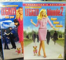LEGALLY BLONDE 1 & 2 X DVD STARRING REESE WITHERSPOON (STILL SEALED / WRAPPED)