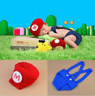 Newborn Baby Girls Hats Costume Crochet Outfits Photography Photo Props Mario