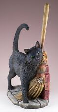 Black Cat Figurine A Brush With Magick by Lisa Parker Polystone New In Box