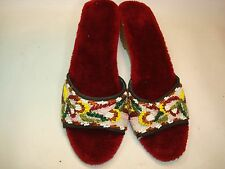 Fantastic Asian Beaded Ladies Shoes Size 8
