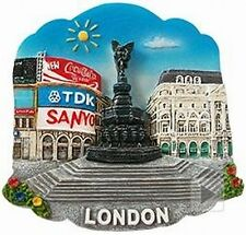 London Piccadilly Circus,Poly Fridge Magnet 6,5 cm,England Souvenir,NEU