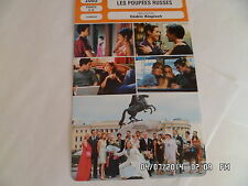 CARTE FICHE CINEMA 2005 LES POUPEES RUSSES Romain Duris Audrey Tautou De France