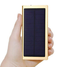 US 100000mAh SOLAR Panel Battery Power Bank 2 USB Portable Charger For Iphone7