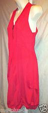 Areline Red Parachute Stretch V-Neck Bubble Dress Paris $142 Sze T3/L Large BNWT