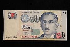 1999 Singapore. 50 Dollars HTT. Banknote