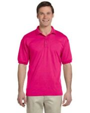NWOT Heliconia Pink Gildan G880 SMALL  pique polo sport shirt  Ultra Blend G8800