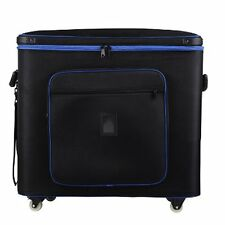 4 Light bank flight case with wheels portable studio light BAG 77cmx 31cm x 59cM
