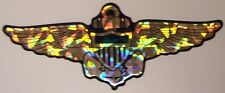 Window Bumper Sticker Military Navy Aviator Wings Prismatic reflective NEW Decal