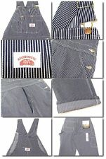 ROUND HOUSE Roundhouse Vintage HICKORY STRIPE Bib Overalls NEW NWT 42 x 30