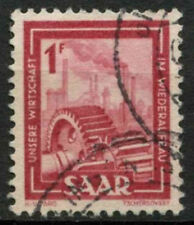 Saar 1949-51 SG#266, 1f Heavy Industries Definitive Used #A81210
