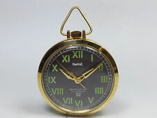 VINTAGE HMT 17 JEWELS HAND-WINDING MOVEMENT ANALOG DIAL POCKET WATCH AC3