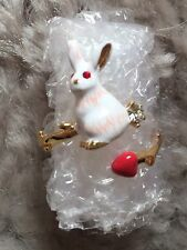 Les Nereides Rabbit Open Ring With A Tiny Little Red Heart Perfect Present