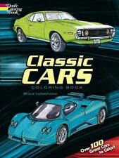 Dover CLASSIC CARS Adult Coloring Book Bruce LaFontaine Fine 2007 3 books in 1