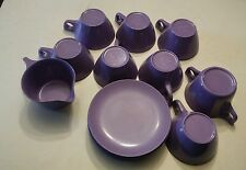 015 Vintage Purple Texas Ware 15 Piece Lot Melmac, Melamine Dishes Plastic