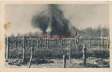 2 x Foto, Ak, Wk1, französischer Drahtverhau, Explosion einer Granate (R)0641
