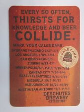 Beer Bar Coaster ~*~ DESCHUTES Base Camp for Fanatics ~ Knowledge & Beer Collide