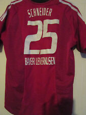 Bayer Leverkusen 2002-2004 Schneider 25 Home Football Shirt Size XL boys /39486