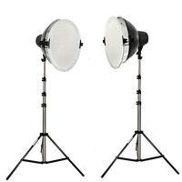 Studioset Daylight Set für Fotostudio 8x32 W mit 2x Fotolampe Studioleuchte