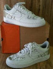 RARE�� Nike Air Force 1 Premium LOS ANGELES  MAP LASER MR. CARTOON WHITE DS Sz13