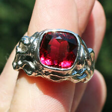 Finest Rubellite Tourmaline Platinum Ring Gem AAA Quality Best Color