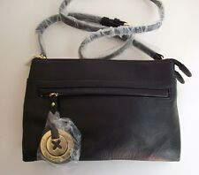Mimco black due hip Leather shoulder bag