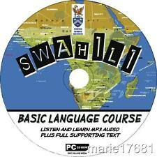 LEARN TO SPEAK SWAHILI PCCD LANGUAGE COURSE EASY BEGINNER PROGRAM MP3 + TEXT NEW