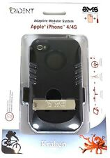 Trident AMS-IPH4S-BK Kraken AMS Clip Case + Screen Guard For iPhone 4 4S - Black