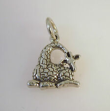 .925 Sterling Silver GIRAFFE Sitting CHARM NEW Pendant 925 AN15