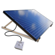 250W Plug-In DIY Solar Panel PV Kit System Ground Mount Kit Garden/Patio/Shed