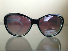 NEW with DEFECT NINE WEST Eyewear Sunglasses Shades - Black/Green