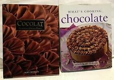 2 BOOKS! COCOLAT & what's cooking CHOCOLATE! USED. GREAT CONDITION!