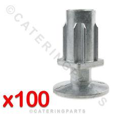 100x 30mm QUADRATA TAVOLO GAMBE PIEDINO REGOLABILE INSERTI PER CATERING tavolo